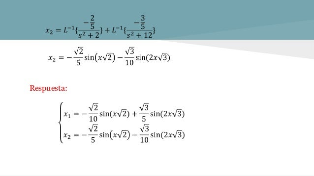En la malla A1B1C1C2B2A2A1, de acuerdo a la 2da ley de Kirchhoff: E(t)=i1(t)R1+L2(di3(t))/dt (3) Reemplazando (1) en (2) y...