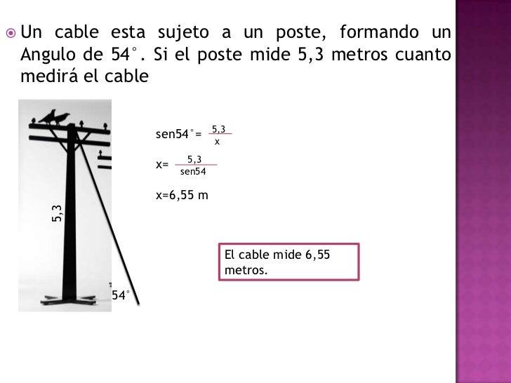 Aplicaciones de la trigonometria for Cuanto vale el alta de la luz