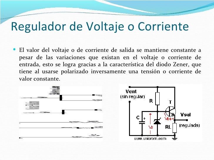 Circuito Regulador De Voltaje : Aplicaciones del diodo