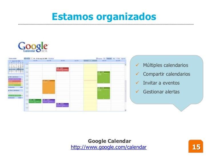 Estamos organizados                                 Múltiples calendarios                              Compartir calenda...