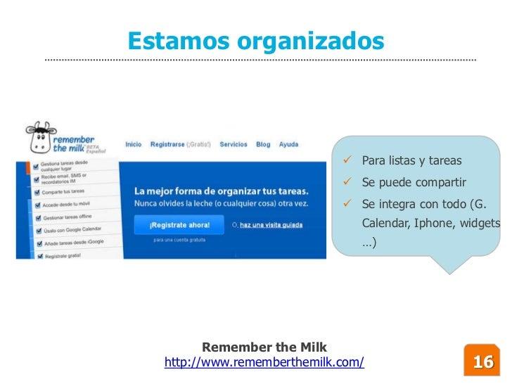Estamos organizados                                  Para listas y tareas                               Se puede compart...