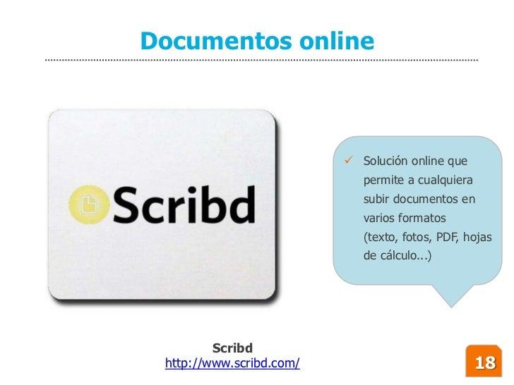 Documentos online                               Solución online que                              permite a cualquiera    ...