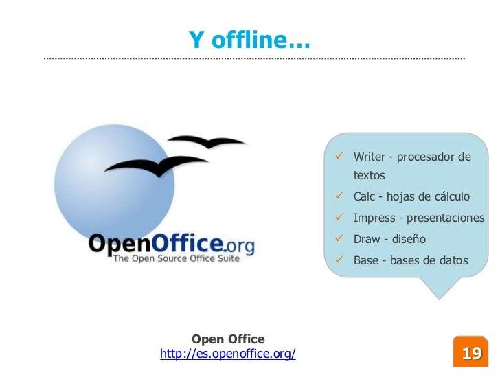 Y offline…                                 Writer - procesador de                                textos                  ...