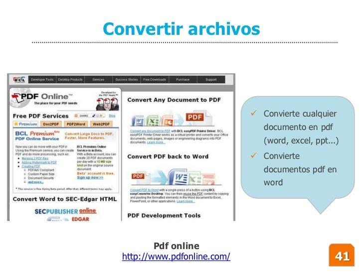 Convertir archivos                                   Convierte cualquier                                  documento en pd...