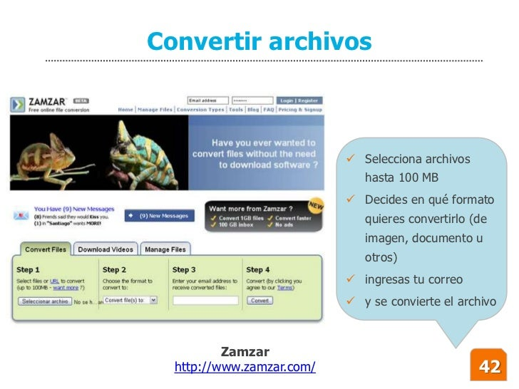 Convertir archivos                                Selecciona archivos                               hasta 100 MB         ...