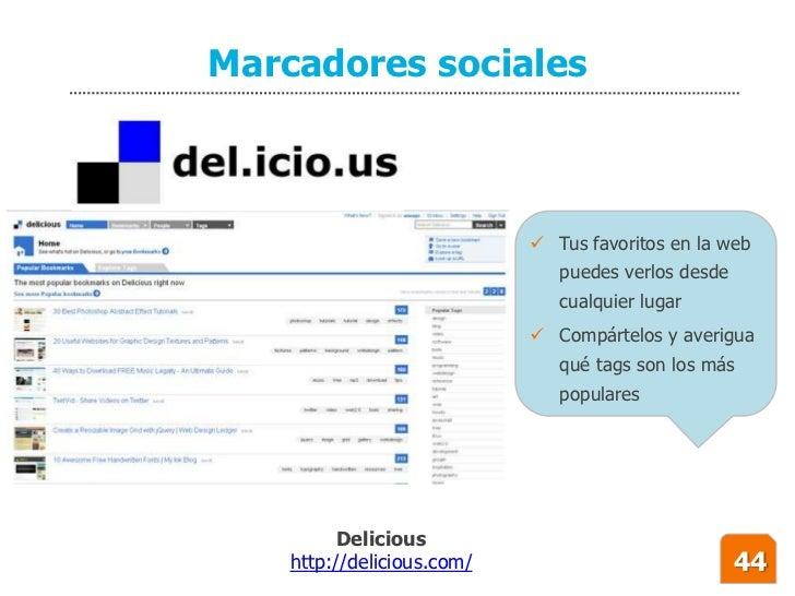 Marcadores sociales                                 Tus favoritos en la web                                puedes verlos ...