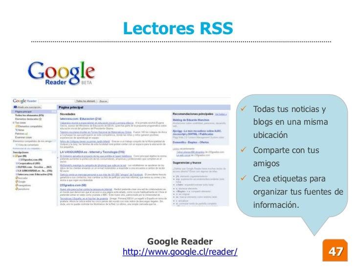 Lectores RSS                                    Todas tus noticias y                                   blogs en una misma...
