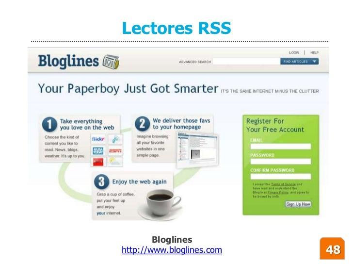 Lectores RSS             Bloglines http://www.bloglines.com   48