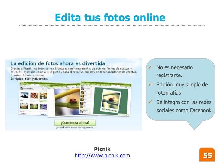 Edita tus fotos online                                No es necesario                               registrarse.         ...
