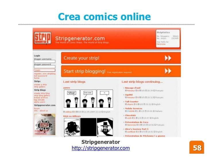 Crea comics online           Stripgenerator   http://stripgenerator.com   58