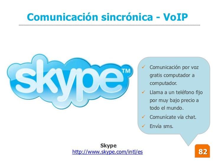 Comunicación sincrónica - VoIP                                        Comunicación por voz                               ...