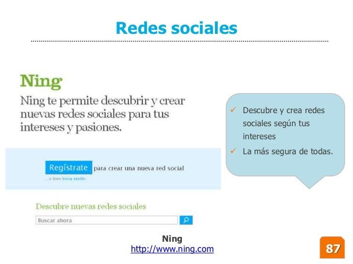 Redes sociales                            Descubre y crea redes                           sociales según tus             ...
