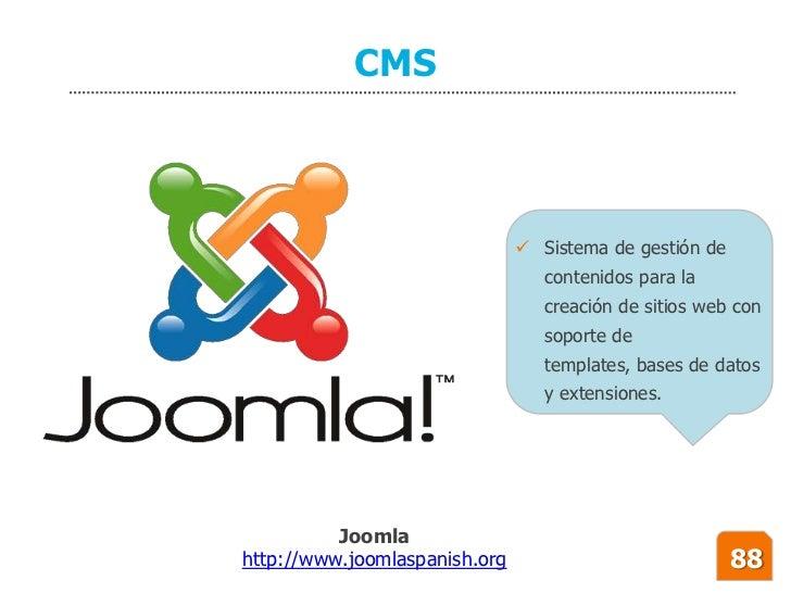 CMS                                    Sistema de gestión de                                   contenidos para la        ...