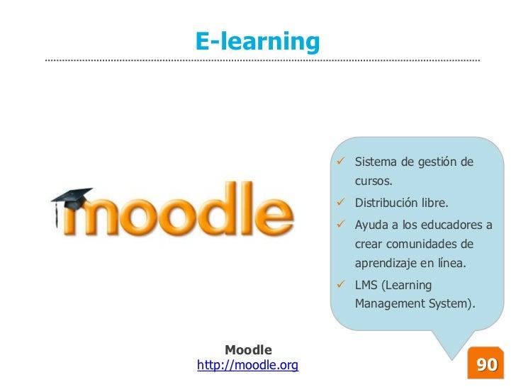 E-learning                         Sistema de gestión de                        cursos.                      Distribució...