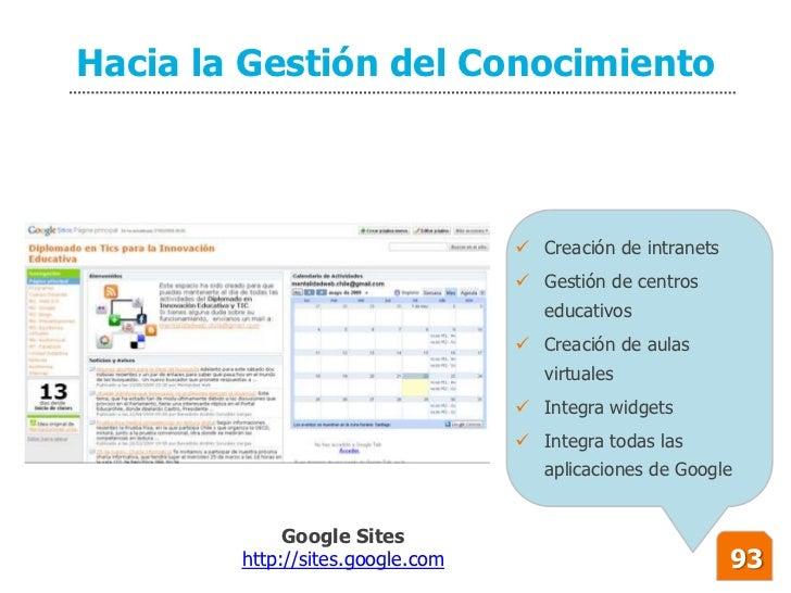 Hacia la Gestión del Conocimiento                                       Creación de intranets                            ...