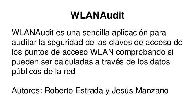 Aplicaciones para auditorías de redes wifi Slide 3