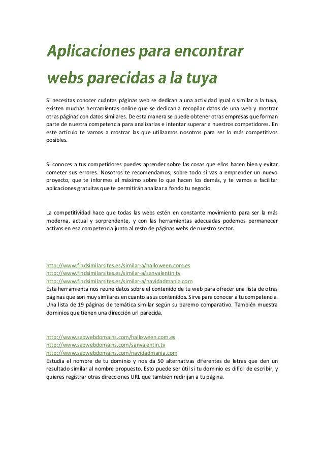 Aplicaciones para encontrar webs parecidas a la tuya for Aplicacion para buscar habitacion