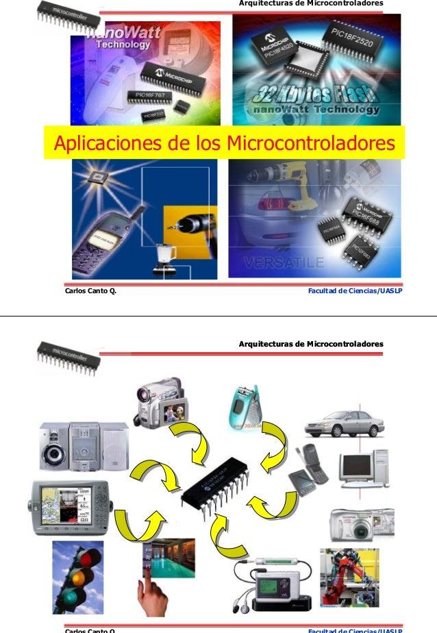 Carlos Canto Q. Facultad de Ciencias/UASLP Aplicaciones de los Microcontroladores Arquitecturas de Microcontroladores Carl...