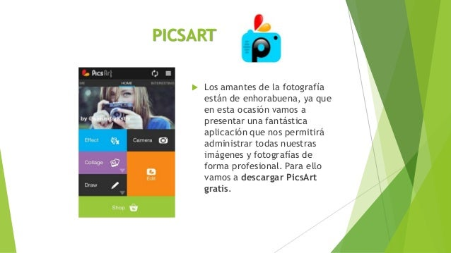 PICSART  Los amantes de la fotografía están de enhorabuena, ya que en esta ocasión vamos a presentar una fantástica aplic...