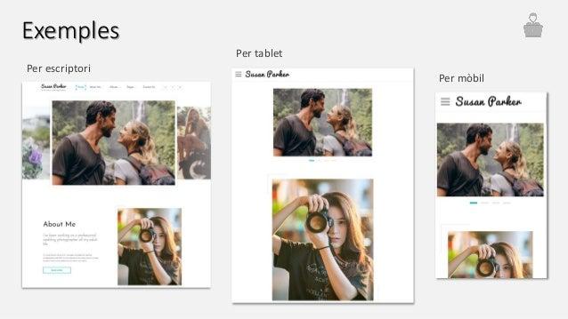 Per escriptori Per tablet Per mòbil Exemples
