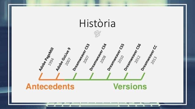 Història Antecedents Versions