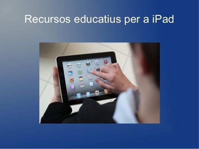 Recursos educatius per a iPad