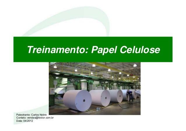 Treinamento: Papel Celulose Palestrante: Carlos Nobre Contato: vendas@tector.com.br Data: 04/2012