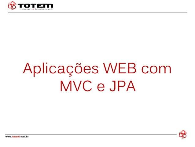 Aplicações WEB com MVC e JPA