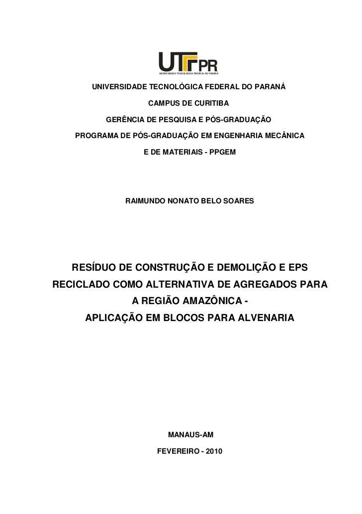 PR                    UNIVERSIDADE TECNOLÓGICA FEDERAL DO PARANÁ      UNIVERSIDADE TECNOLÓGICA FEDERAL DO PARANÁ          ...