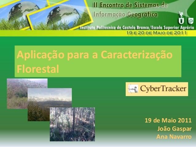Aplicação para a Caracterização Florestal Aplicação para a Caracterização Florestal 19 de Maio 2011 João Gaspar Ana Navarro