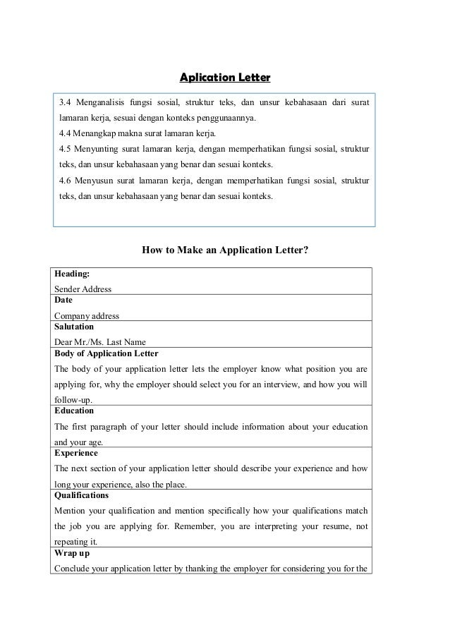 letter application writing aplication letter 6329