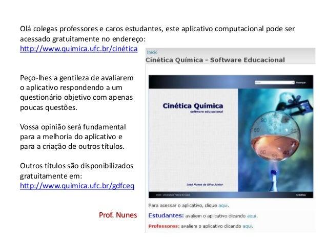Software Educacional: Cinética Química