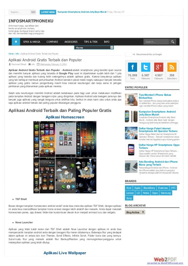 Search...  GO  LATEST NEWS  INFOSMARTPHONEKU  Kumpulan Smartphone Android Jelly Bean Murah Friday, February 07, 2014  Priv...