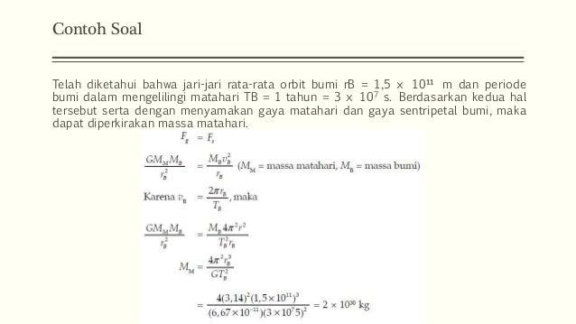 Aplikasi Hukum Gravitasi Sma Kelas Xi