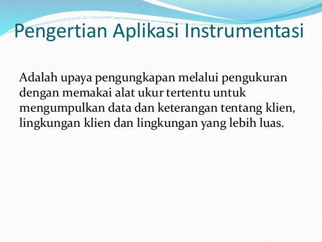 Aplikasi Instrumentasi Dalam Bk