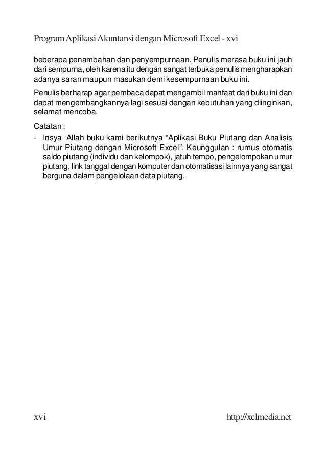 Aplikasi Akuntansi Menggunakan MS. EXCEL