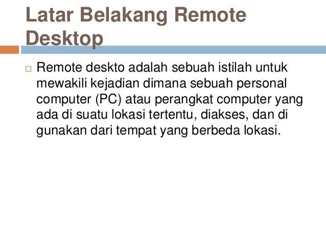 Aplikasi remote desktop Slide 2