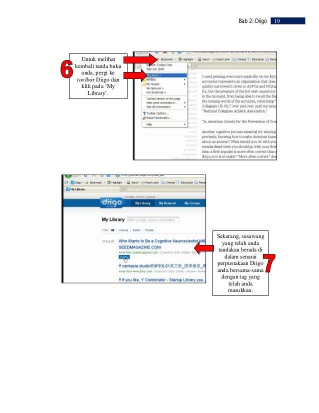 20   Bab 2: Diigo           LANGKAH 6                     Menanda        Kemudian, klik pada         butang 'highlight'.  ...