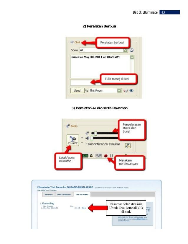 46    Bab 3: Elluminate     RUJUKAN     Elluminate     Live.       2010a.       Unified      Learning       and       Coll...