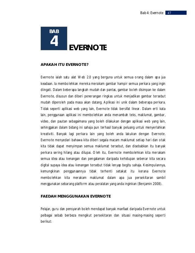 48    Bab 4: Evernote     Pelajar     Pelajar dari pelbagai tahap pendidikan dan latar belakang boleh menggunakan     Ever...