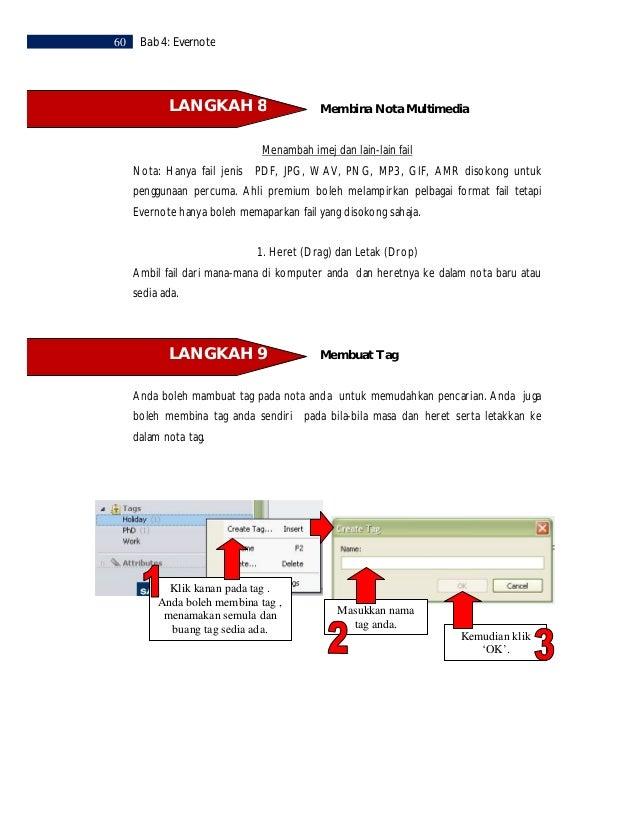 Bab 4: Evernote     61        LANGKAH 10              Email Nota                                                          ...