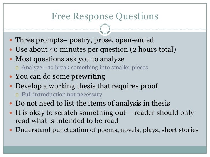 open ended essay prompts The prompts page includes some examples of open-ended questions, but since they are usually paired with reading passages it is best to develop your own open-ended.