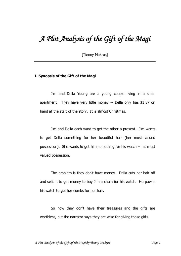 a plot analysis of the gift of the magi page 6 3 a plot analysis of the gift of the magi