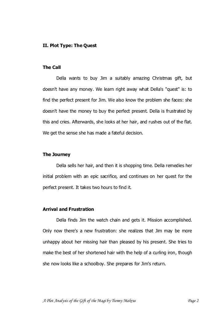 A plot analysis of the gift of the magi a plot analysis of the gift of the magi by tienny makrus page 1 4 negle Images