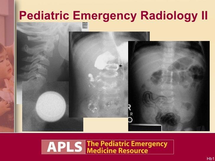 Pediatric Emergency Radiology II