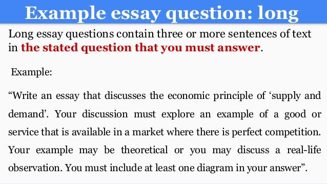 an example of a essay