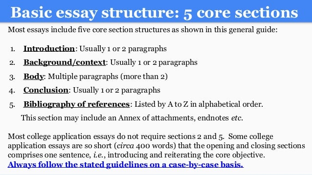 writing an a college essay paper 22 basic essay structure