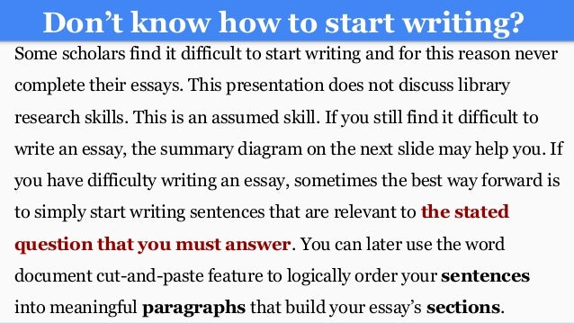 how to start a college essay