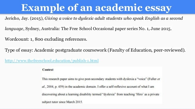 example essay topics for college