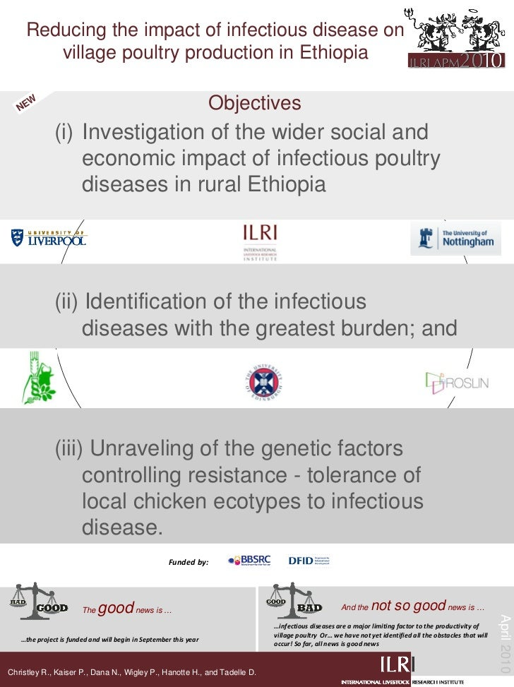 Reducing the impact of infectious disease on         village poultry production in Ethiopia     NE      W                 ...